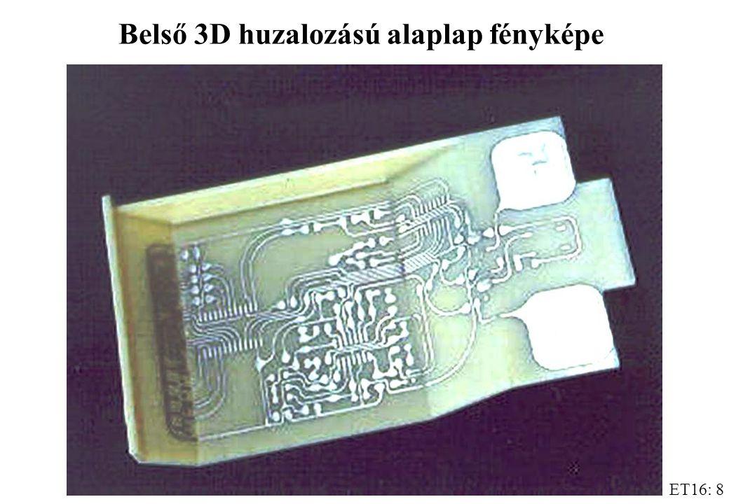 Belső 3D huzalozású alaplap fényképe