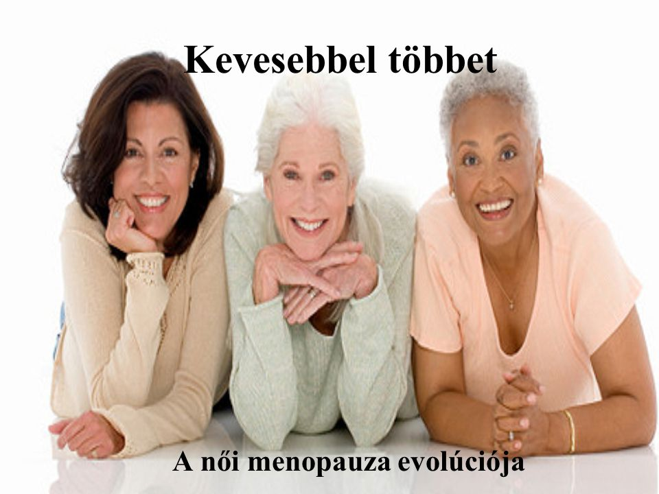 A női menopauza evolúciója