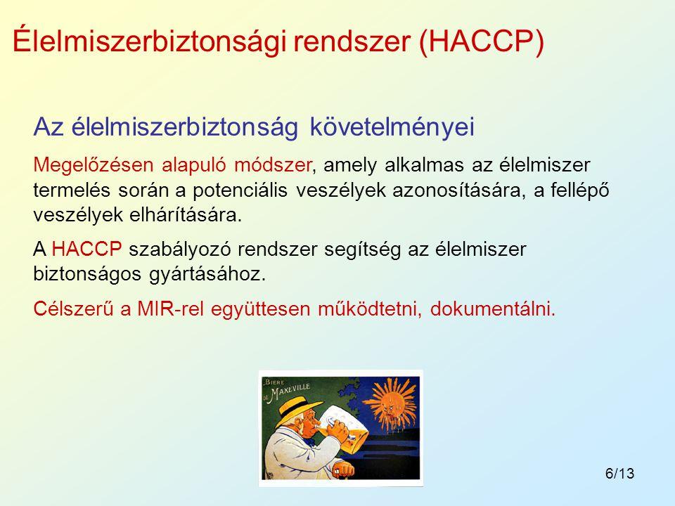 Élelmiszerbiztonsági rendszer (HACCP)