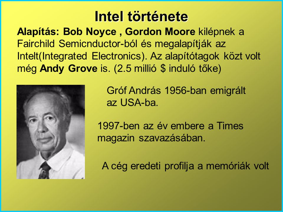Intel története