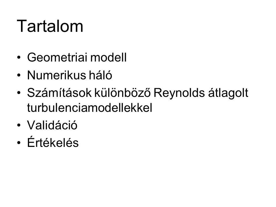 Tartalom Geometriai modell Numerikus háló