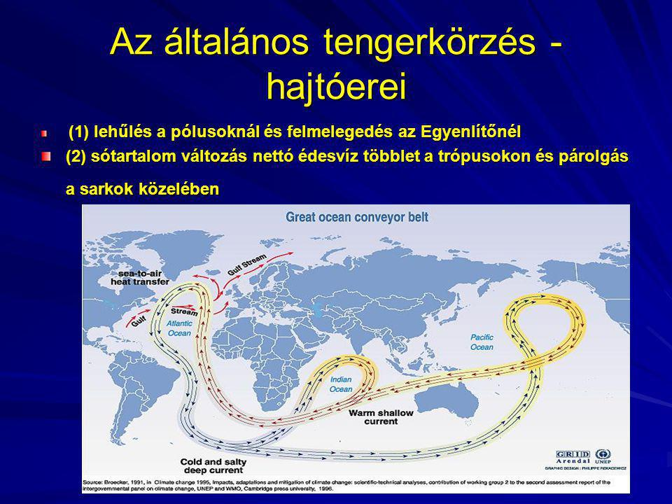 Az általános tengerkörzés - hajtóerei
