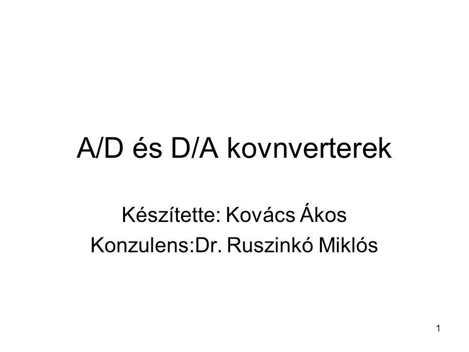 A/D és D/A kovnverterek