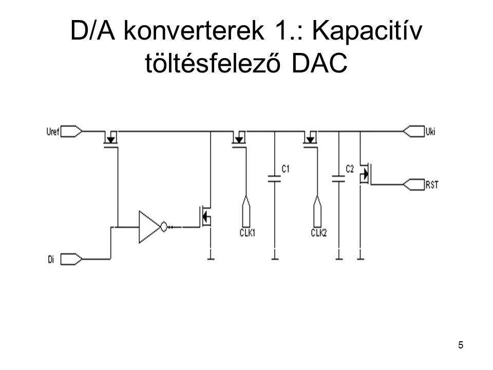D/A konverterek 1.: Kapacitív töltésfelező DAC