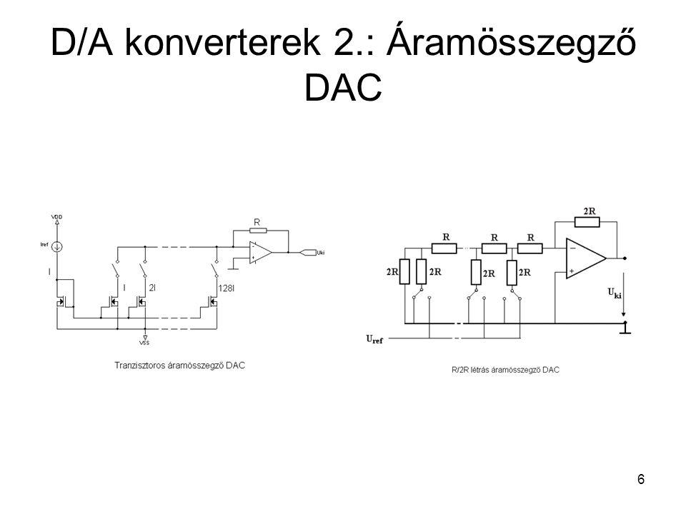 D/A konverterek 2.: Áramösszegző DAC