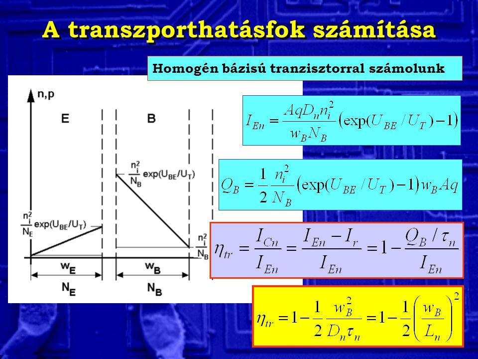 A transzporthatásfok számítása