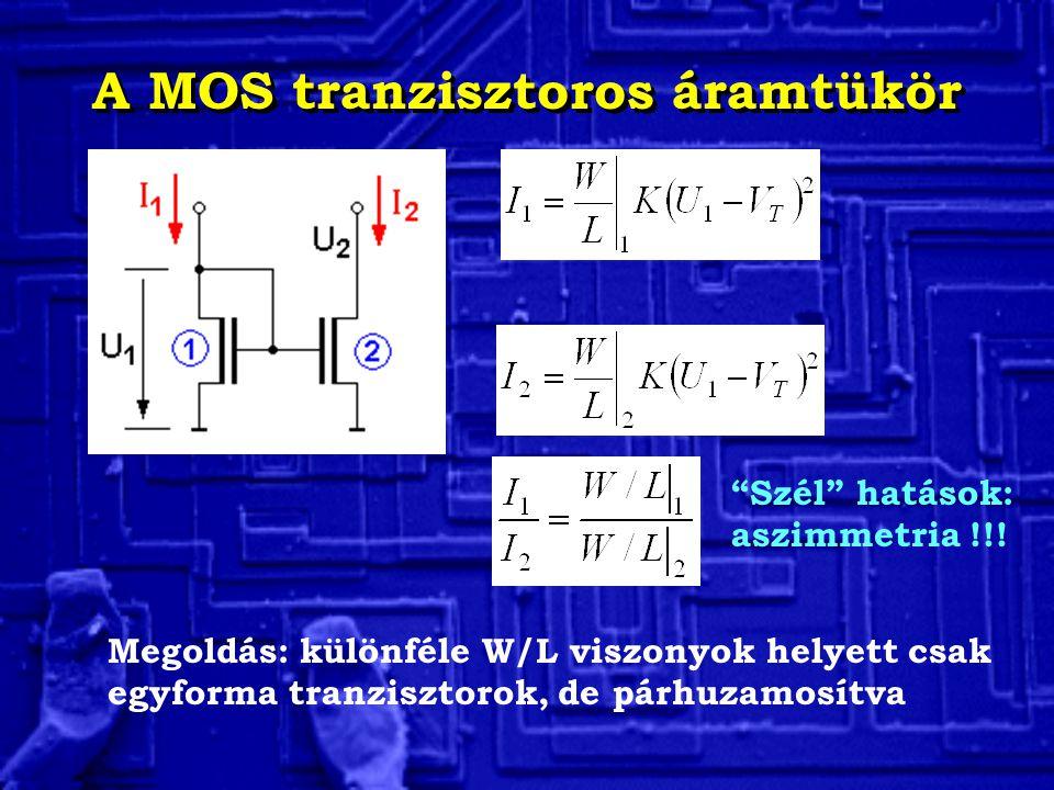 A MOS tranzisztoros áramtükör