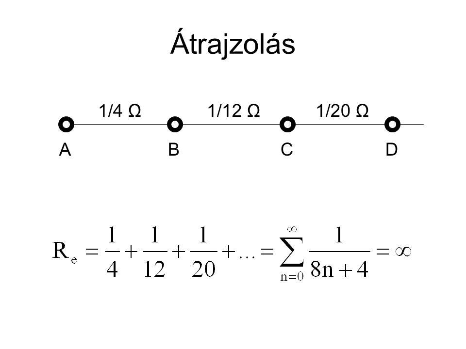 Átrajzolás 1/4 Ω 1/12 Ω 1/20 Ω A B C D