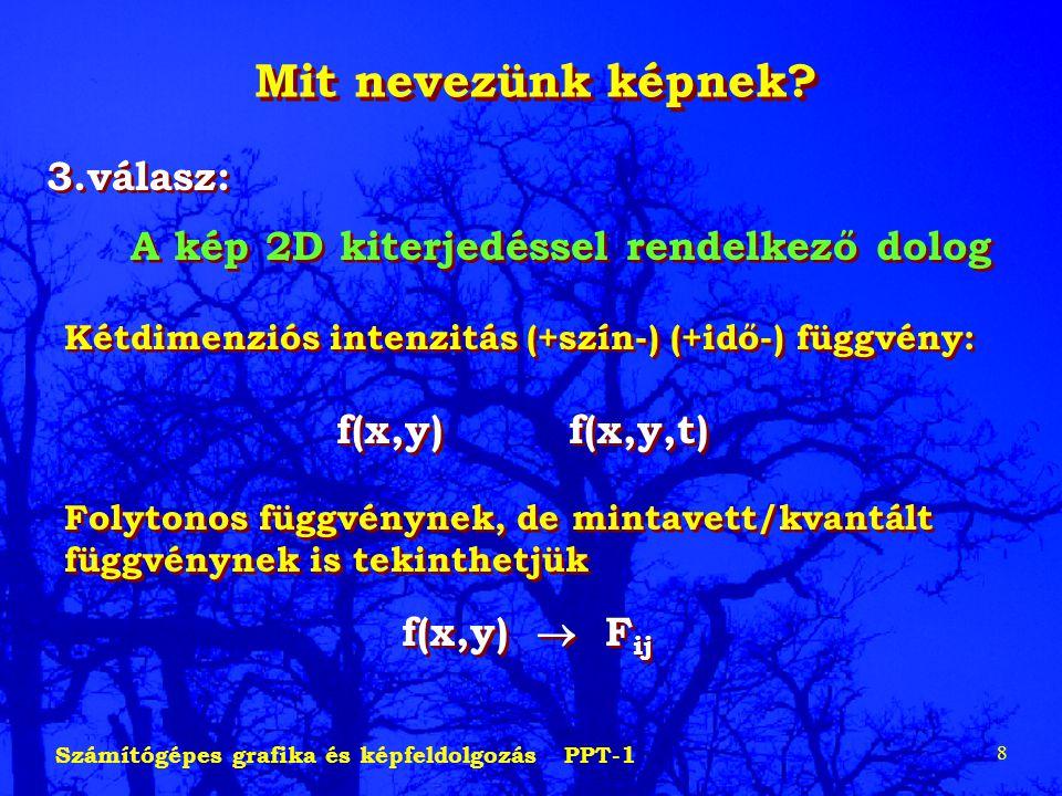 Mit nevezünk képnek 3.válasz: f(x,y)  Fij