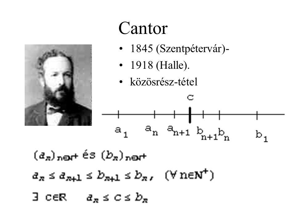 Cantor 1845 (Szentpétervár)- 1918 (Halle). közösrész-tétel