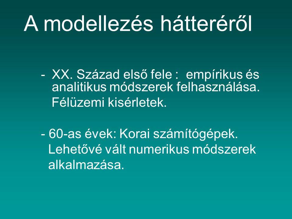 A modellezés hátteréről