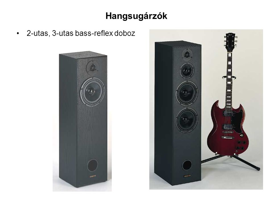 Hangsugárzók 2-utas, 3-utas bass-reflex doboz