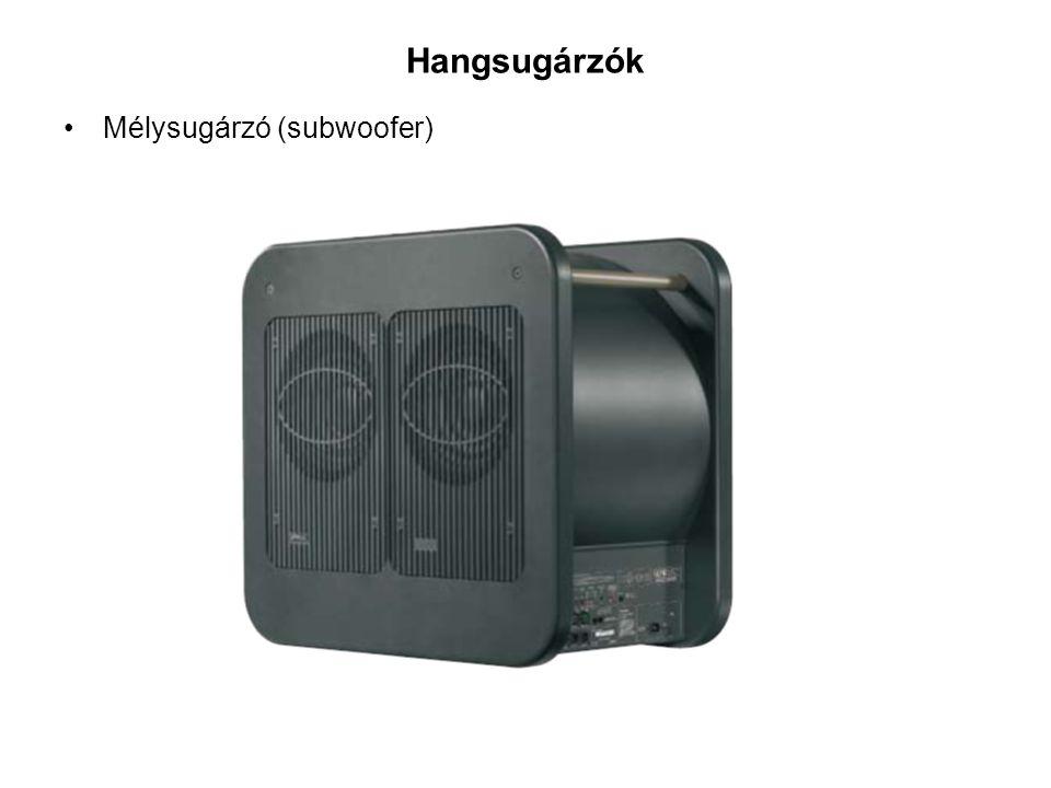Hangsugárzók Mélysugárzó (subwoofer)