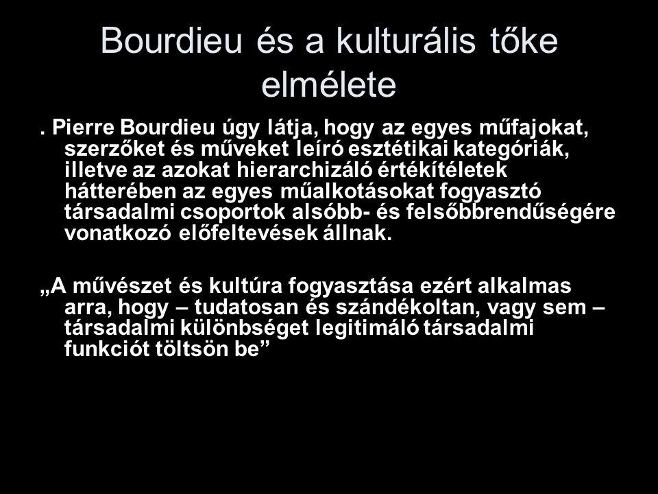 Bourdieu és a kulturális tőke elmélete