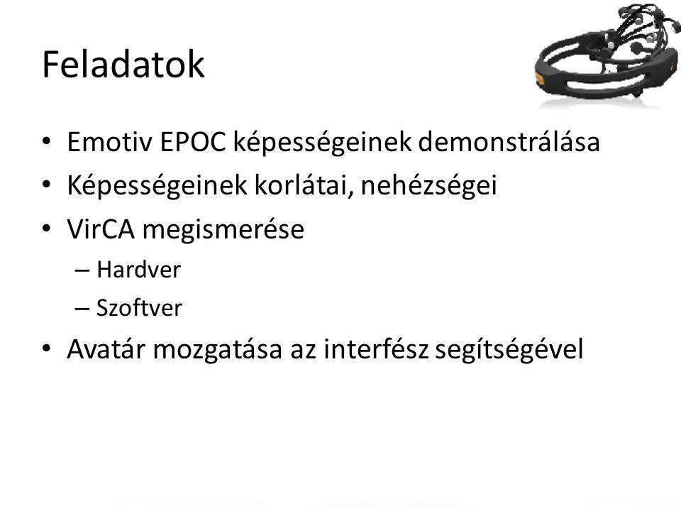 Feladatok Emotiv EPOC képességeinek demonstrálása