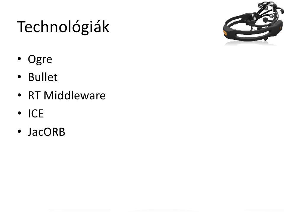 Technológiák Ogre Bullet RT Middleware ICE JacORB