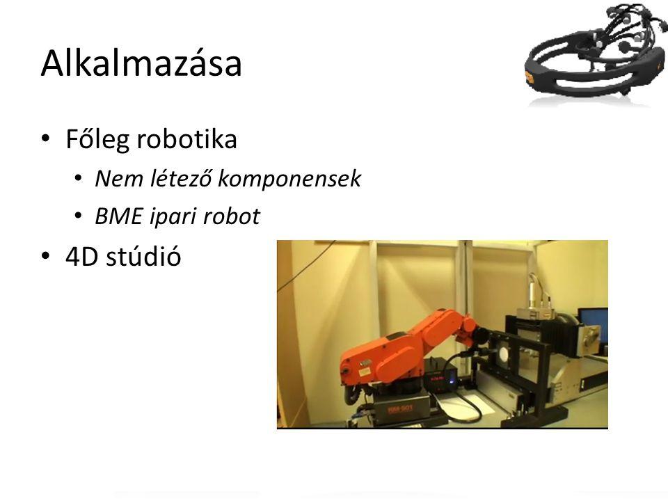 Alkalmazása Főleg robotika 4D stúdió Nem létező komponensek