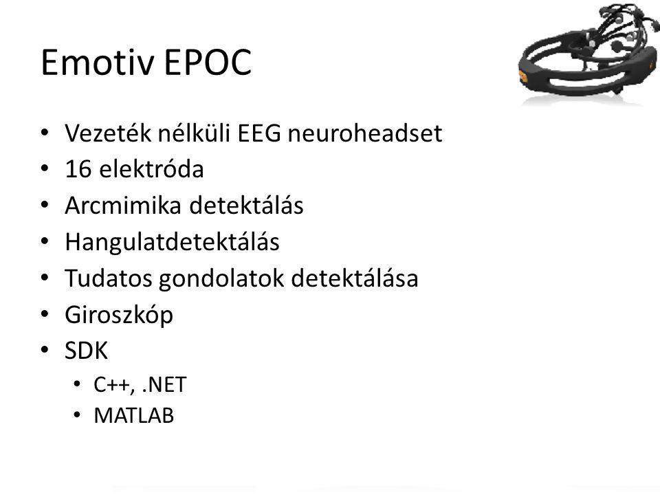 Emotiv EPOC Vezeték nélküli EEG neuroheadset 16 elektróda