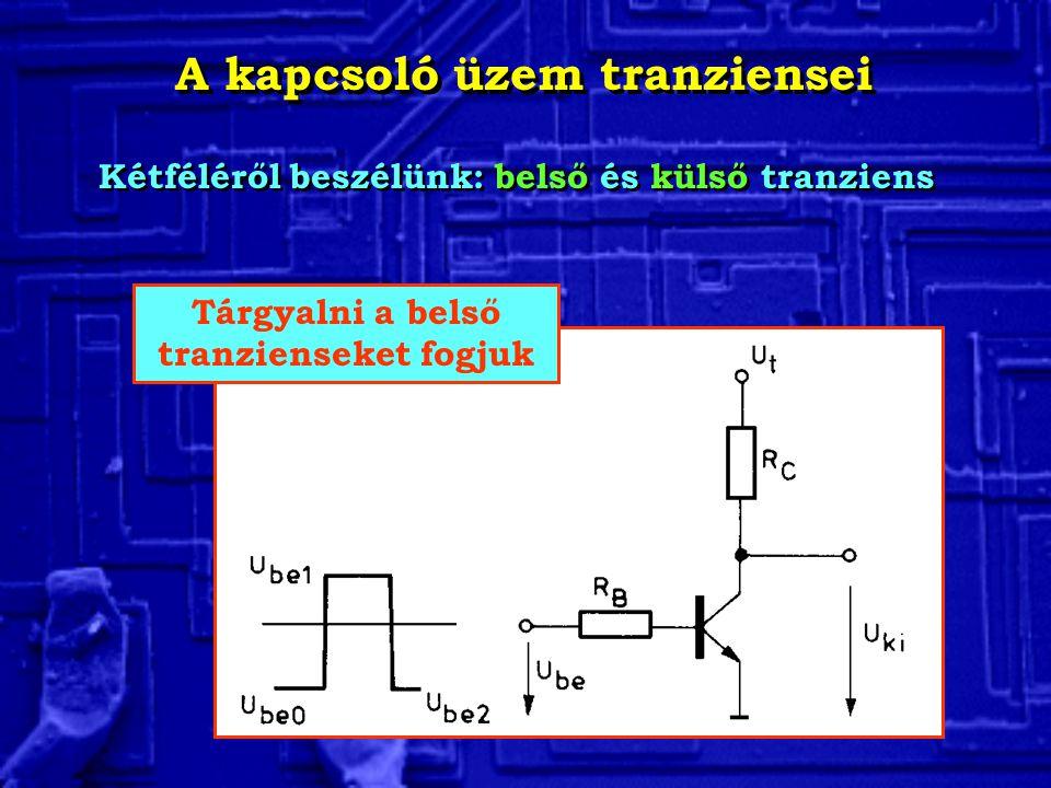 A kapcsoló üzem tranziensei Tárgyalni a belső tranzienseket fogjuk