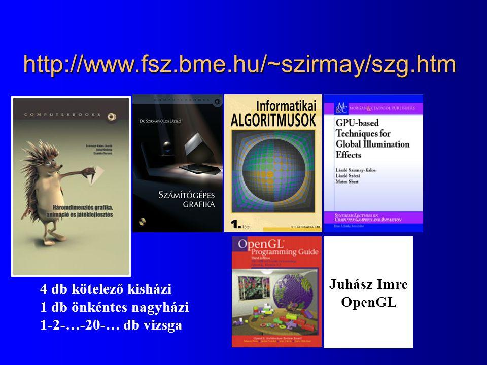 http://www.fsz.bme.hu/~szirmay/szg.htm Juhász Imre OpenGL