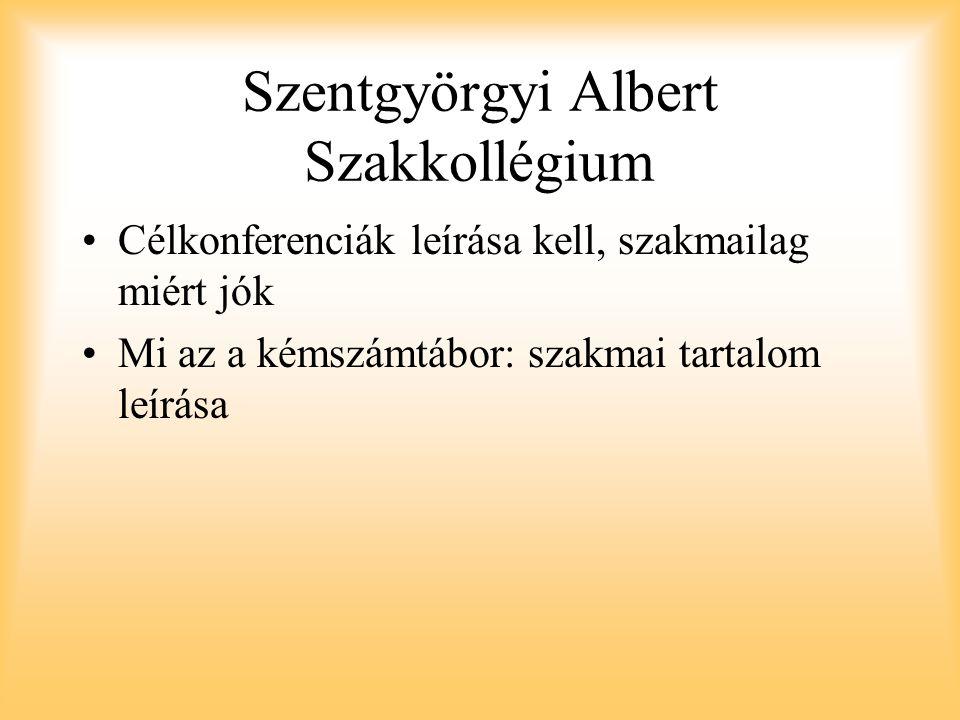 Szentgyörgyi Albert Szakkollégium