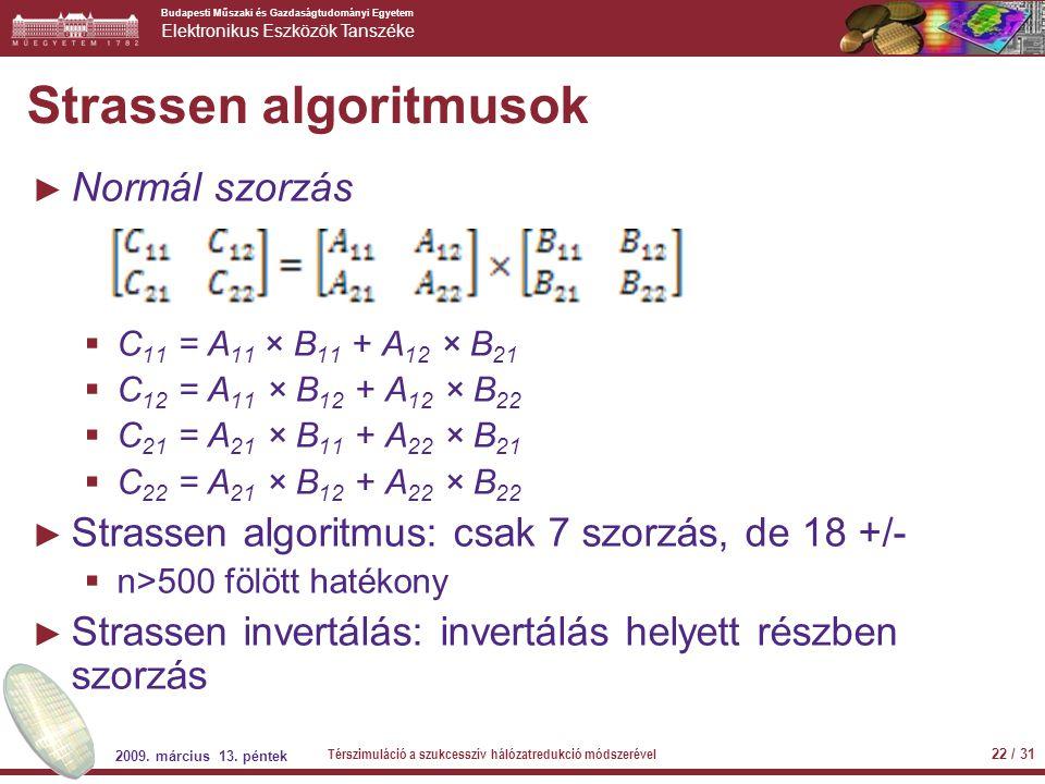 Strassen algoritmusok