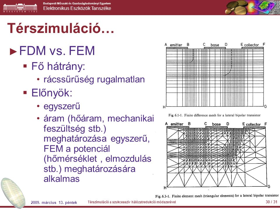 Térszimuláció… FDM vs. FEM Fő hátrány: Előnyök: