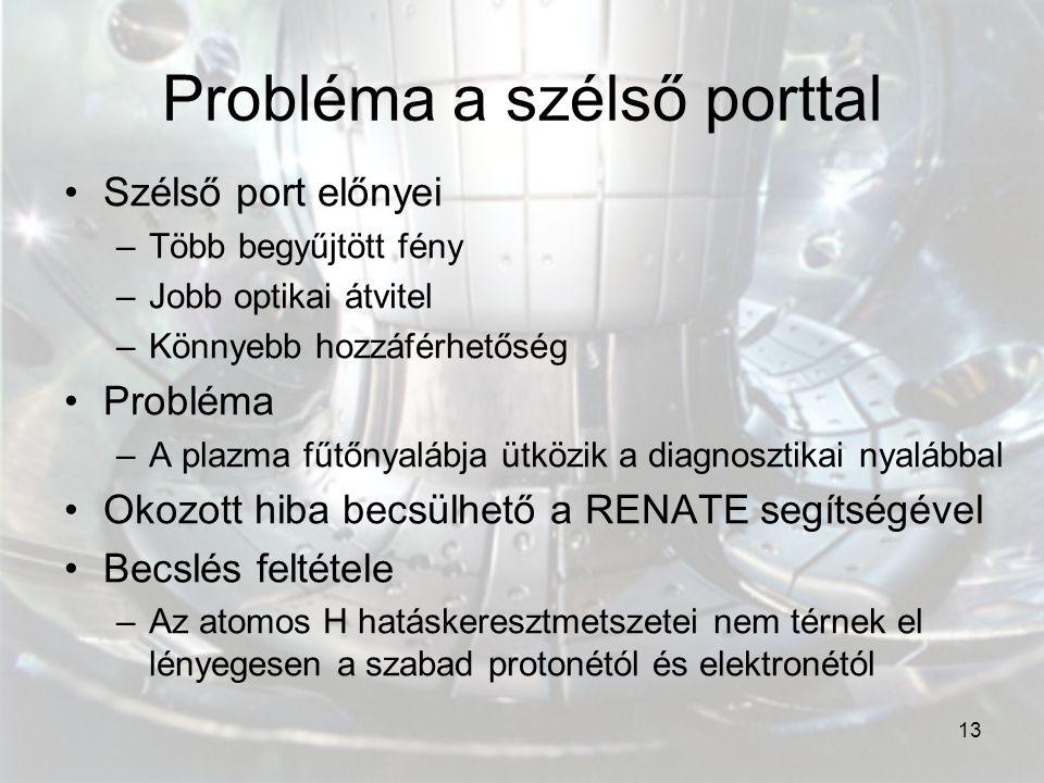 Probléma a szélső porttal