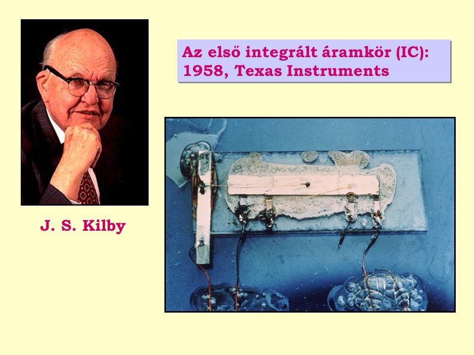 Az első integrált áramkör (IC): 1958, Texas Instruments