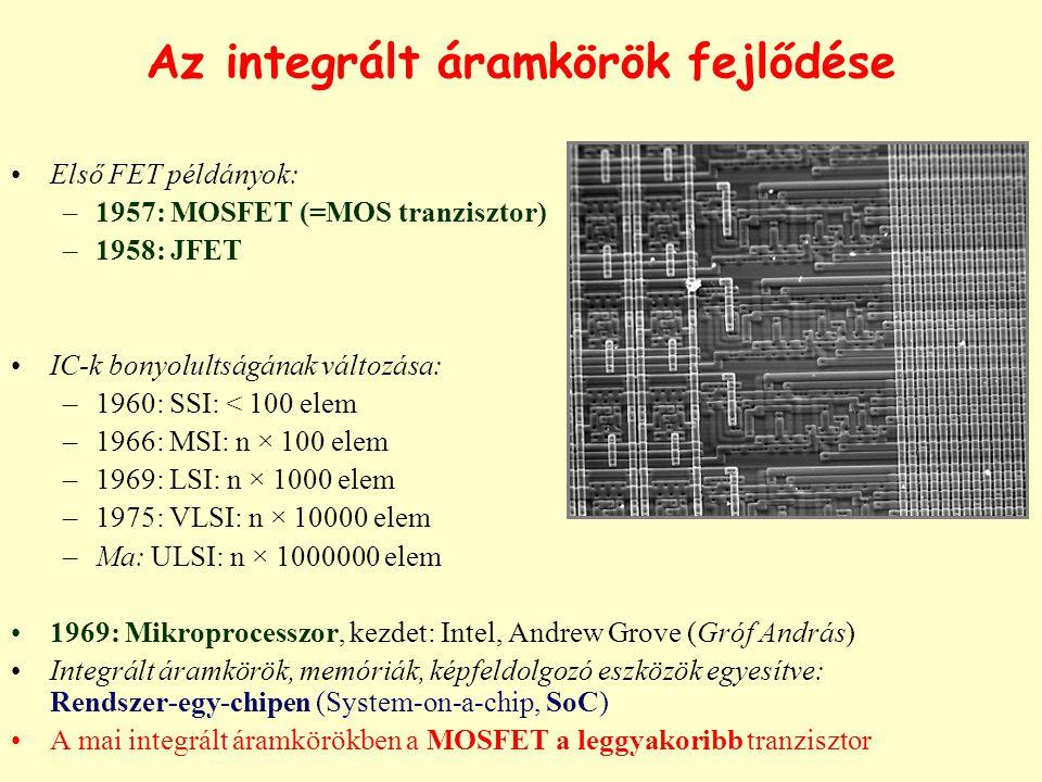 Az integrált áramkörök fejlődése