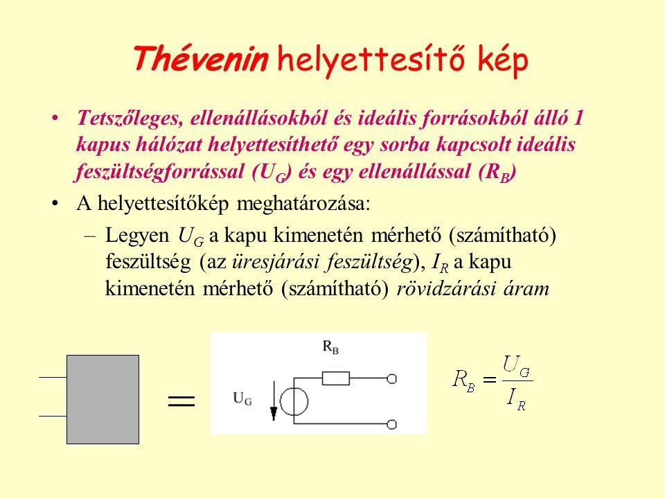 Thévenin helyettesítő kép