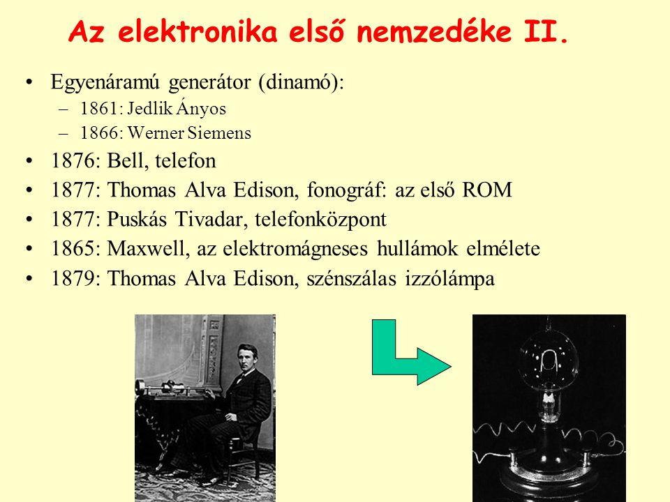 Az elektronika első nemzedéke II.