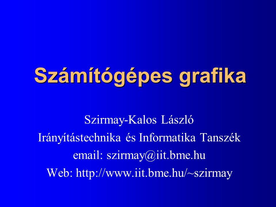 Számítógépes grafika Szirmay-Kalos László