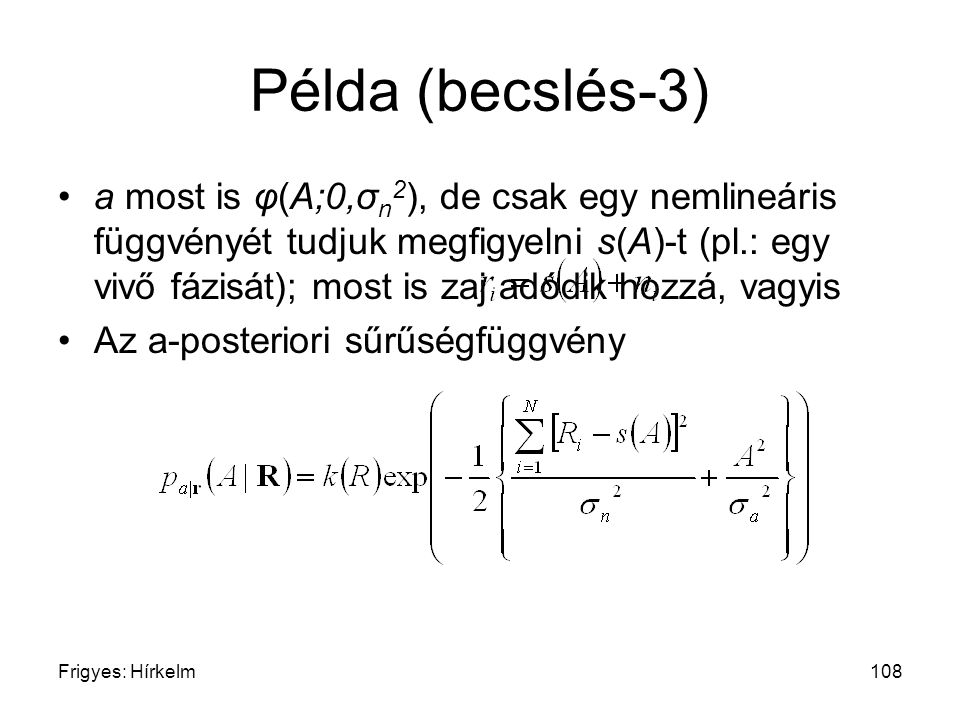 Példa (becslés-3)