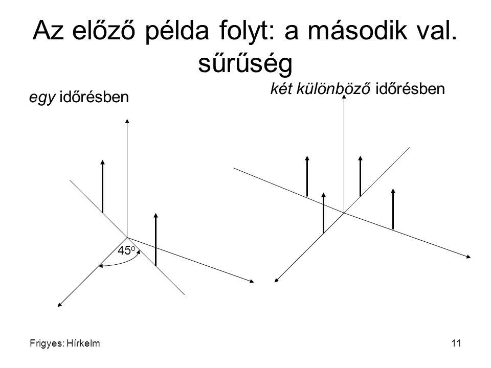 Az előző példa folyt: a második val. sűrűség