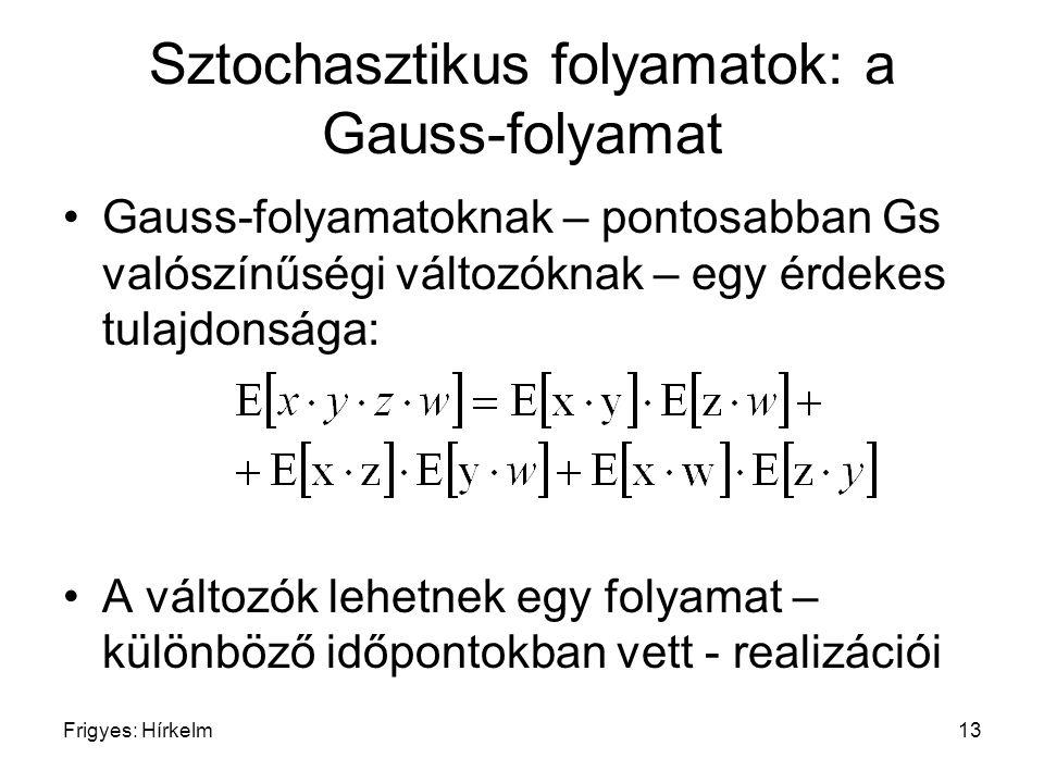Sztochasztikus folyamatok: a Gauss-folyamat