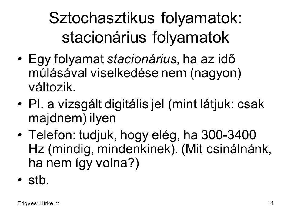 Sztochasztikus folyamatok: stacionárius folyamatok