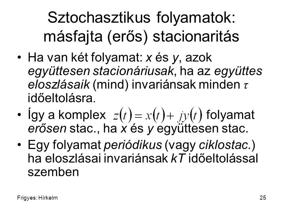 Sztochasztikus folyamatok: másfajta (erős) stacionaritás