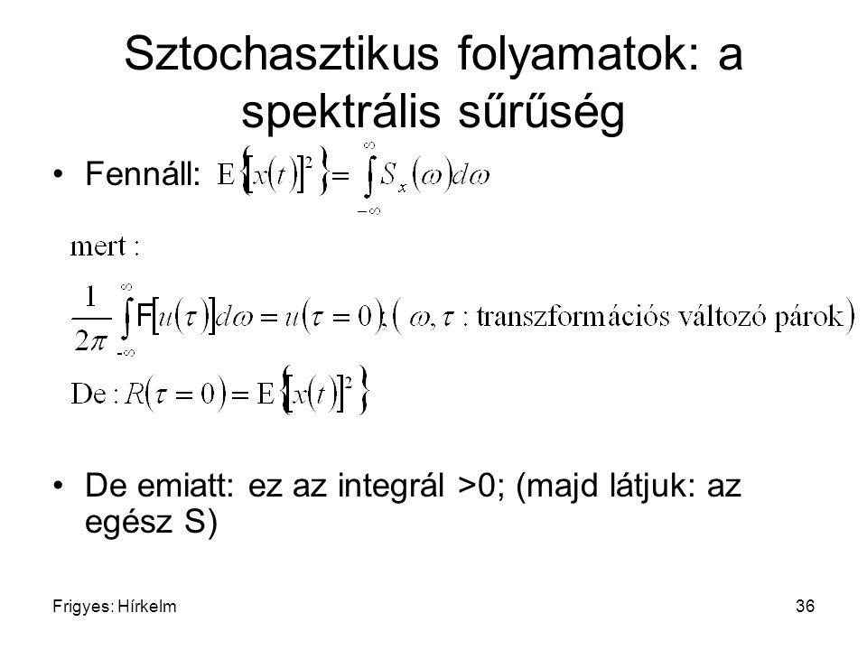 Sztochasztikus folyamatok: a spektrális sűrűség