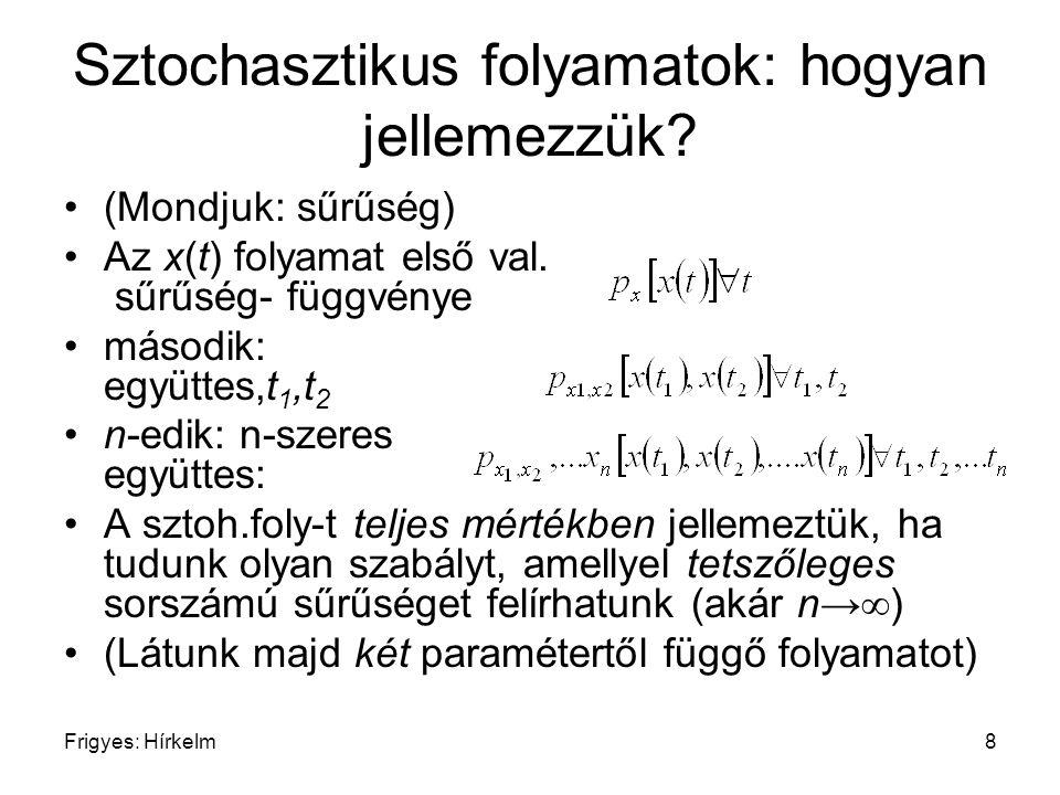 Sztochasztikus folyamatok: hogyan jellemezzük