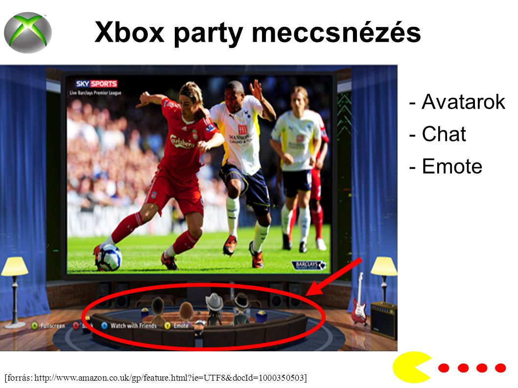 Xbox party meccsnézés - Avatarok - Chat - Emote