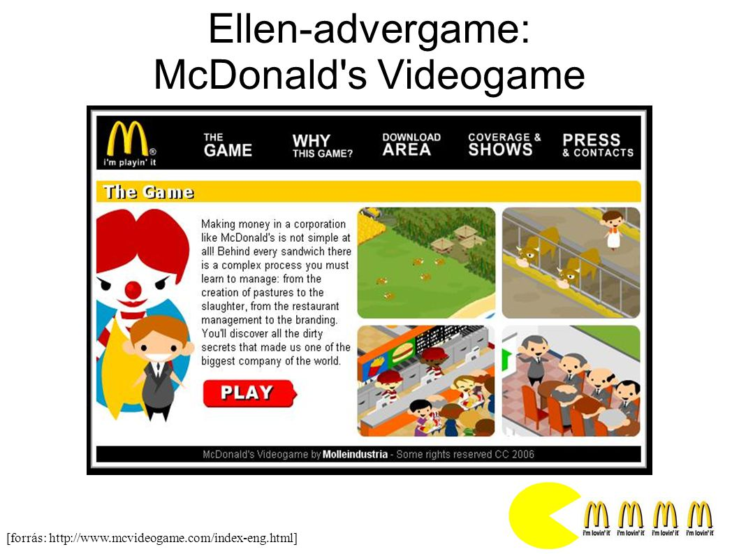 Ellen-advergame: McDonald s Videogame
