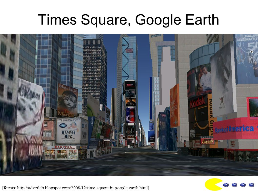 Times Square, Google Earth