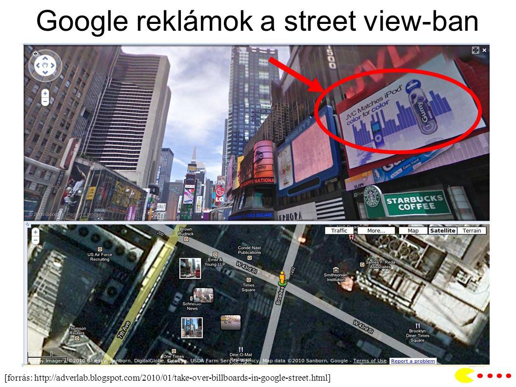Google reklámok a street view-ban