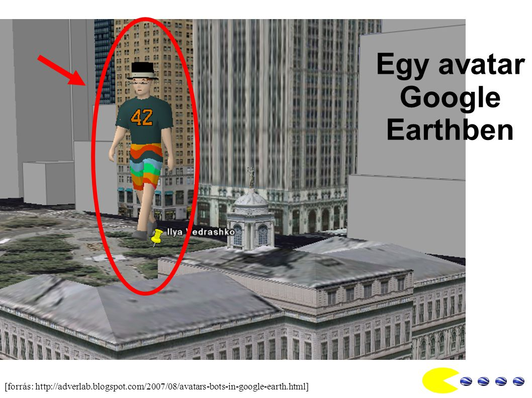 Egy avatar Google Earthben