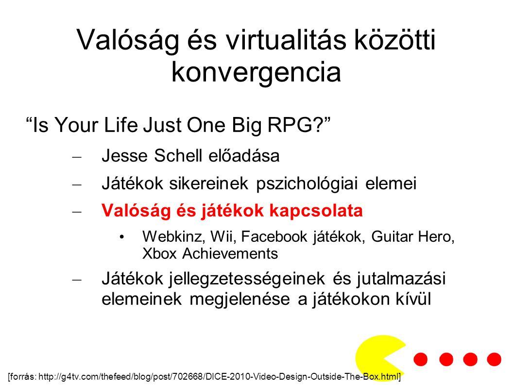 Valóság és virtualitás közötti konvergencia