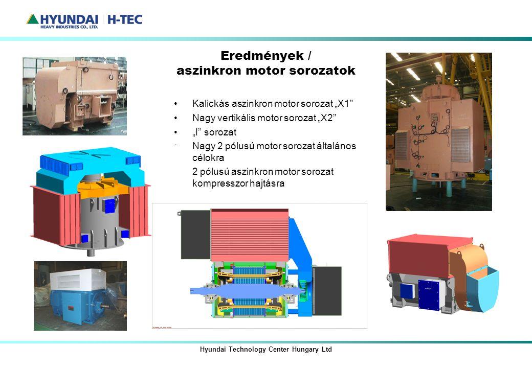 Eredmények / aszinkron motor sorozatok