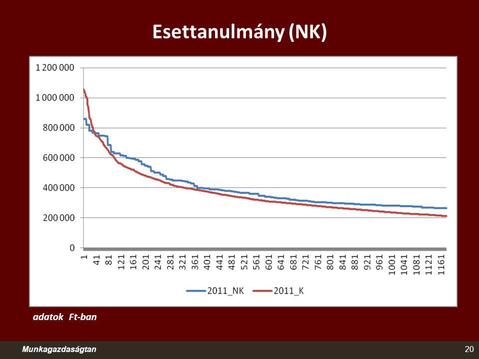 Esettanulmány (NK) adatok Ft-ban Munkagazdaságtan