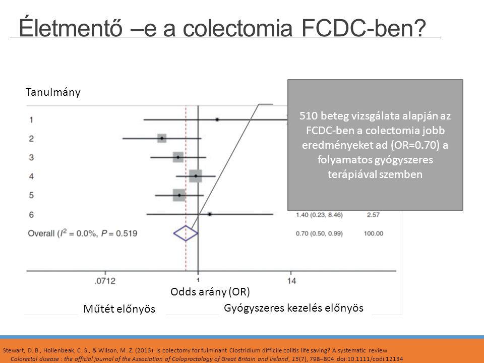 Életmentő –e a colectomia FCDC-ben