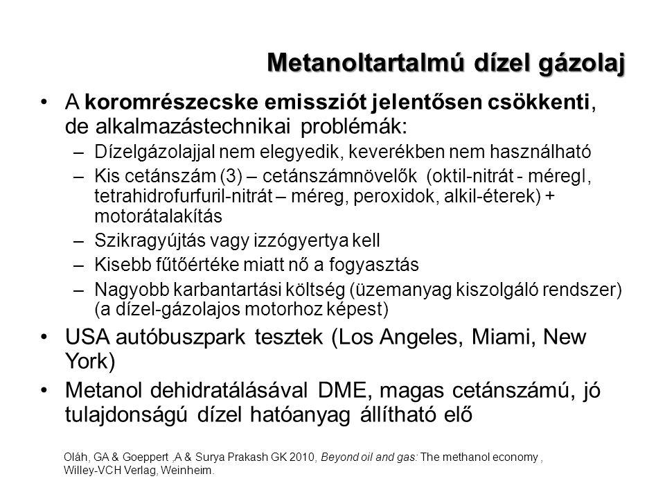 Metanoltartalmú dízel gázolaj
